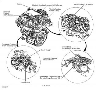 2001 chevy monte carlo code p0341  engine performance