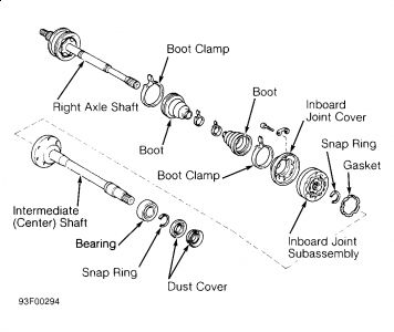 Lexus Es 300 1992 Lexus Es 300 Cv Axle Remove W Carrier Bearing on 2001 pt cruiser schematics