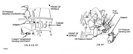 Oil Pressure Sending Unit Wiring Diagram together with 4 3l Oil Pressure Switch Location together with Diagram Of 2001 Ford Taurus 3 0l Ohv Engine additionally Code P0740 545rfe 1552898 furthermore 1989 Ford Bronco Tfi Module Wiring Diagram. on ford ranger oil pressure sending unit