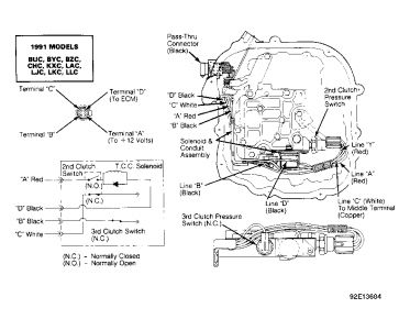 Buick Century 1992 Buick Century Location Of Torque Converter Clutch Wiri on wiring harness car engine