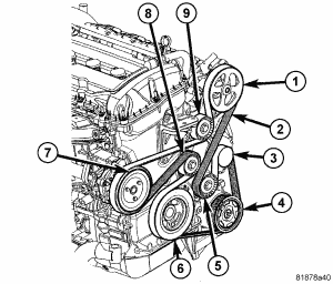 2007 dodge caliber drive belt  engine mechanical problem