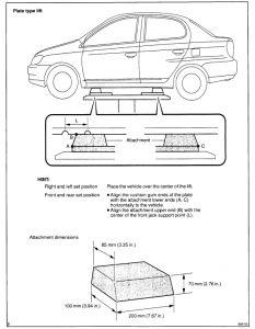 2002 toyota echo lift and jack points suspension problem 2002. Black Bedroom Furniture Sets. Home Design Ideas