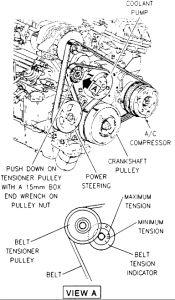 1996 oldsmobile 88 belt tensioner assembly engine mechanical