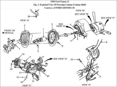 ford taurus steering column diagram ford ranger steering column wiring #10