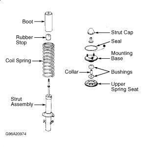 Front Suspension on 2001 Honda Civic Front Suspension Diagram