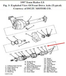 1997 isuzu rodeo question front axel cv joint replacement rh 2carpros com Isuzu Rodeo Wiring-Diagram 2000 Isuzu Rodeo Engine Diagram