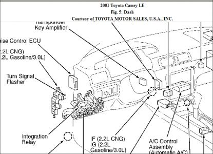 Toyota Camry 2000 Toyota Camry Tail Lights Inop on automotive wiring schematics diagram