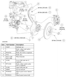 Ford Fusion Bearing Diagram