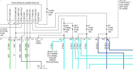 brake lights not working electrical problem v8 two wheel drive 2005 Trailblazer Wiring-Diagram www 2carpros com forum automotive_pictures 248092_05_silverado_flasher_1