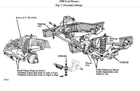 ford bronco suspension diagrams  ford  auto parts catalog