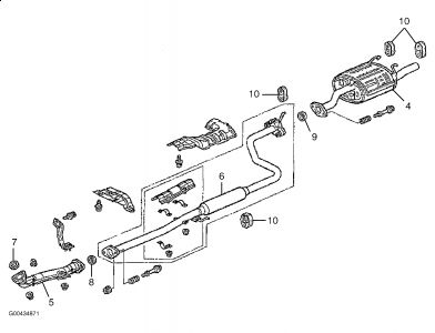 diagram of honda civic exhaust system 1999 honda civic dying with electrical load/exhaust resonat #12