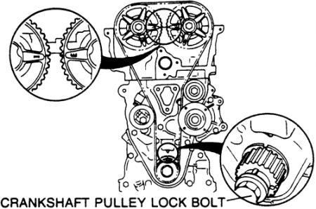 1995 mazda 626 timing belt alligning timing belt marks. Black Bedroom Furniture Sets. Home Design Ideas
