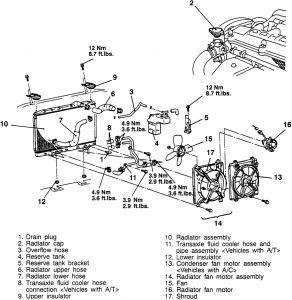 2000 oldsmobile silhouette heater hose diagram