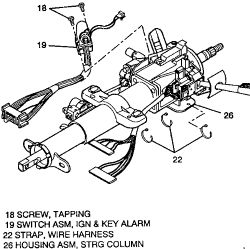 Chevrolet Astro 1996 Chevy Astro How To Replace Ignition Switch Assembly E on 1993 ford ranger wiring diagram