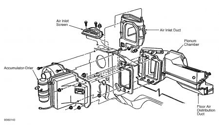 install 96 lincoln town car heater hose diagram