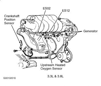 Serpentine Belt Diagram 2000 Ford Windstar V6 30 Liter Engine Without Air Conditioner 03474 besides Replace V8 Truck Belt moreover Serpentine Belt Diagram 2002 Dodge Grand Caravan V6 33 Liter Engine 02526 as well T25088605 Location input speed sensor 2008 aveo also T5000093 Need belt diagram 3 3 liter v6 1994. on chrysler 3 8 liter engine diagram