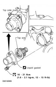 2001 nissan frontier thermostat replacement