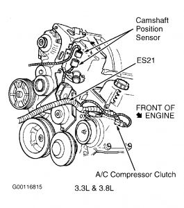 chrysler 3 5l engine diagram 1999 chrysler town and country cam sensor: were is it located #7