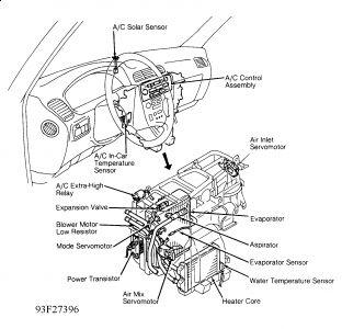 1992 Lexus ES 300 Blower Motor Resistor: Where Is It Located