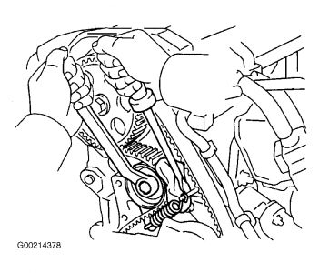 1998 toyota rav4 timing belt adjustment  engine mechanical