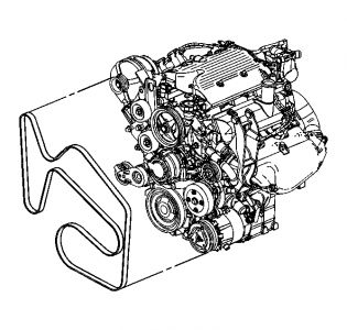 belt diagram  six cylinder two wheel drive automatic