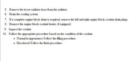 How To Flush Coolant System >> 2004 Cadillac Escalade Esv CHANGE COOLANT: Engine Cooling ...