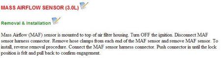 2002 Saturn L300 Mass Air FLow Sensor: How Do I Change the