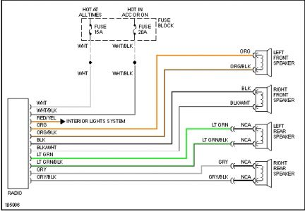 2007 Pontiac G6 Radio Wiring - Diagram Schematic Ideas on