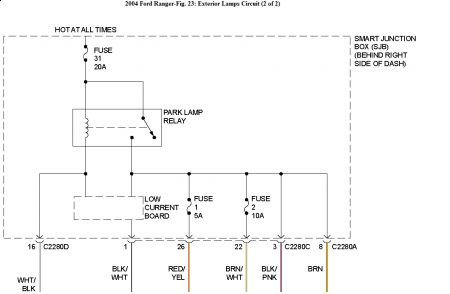 2004 ford ranger wiring diagram for stereo 2004 ford ranger im i see it in my wiring diagram as well and it s showing it as being located in the smart junction box which is behind the right side of dash
