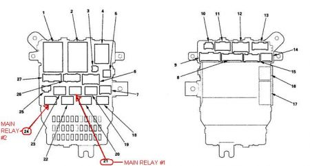 2005 honda accord fuel relay  electrical problem 2005