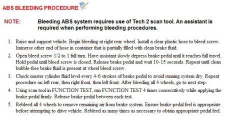 2000 GMC Safari Bleeding Brakes: Does the Abs Module on This