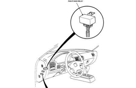 Ecm Relay Location Pgm Fi 1and 2, 93 Honda Accord Starter Wiring Diagram