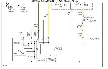 1986 ford f150 alternator problems: the alternator in the ... 1986 ford alternator wiring
