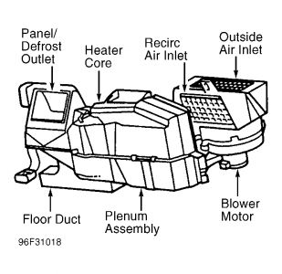 heater core diagram i need a diagram of where my heater core 97 Ford Crew Cab 2carpros forum automotive pictures 266999 1 9