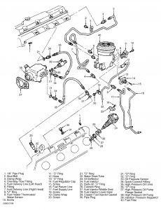 2002 ford f350 fuel filter wiring diagram 2006 F350 Dually 2001 ford f350 engine parts removal the fuel lines which go to 2carpros forum automotive pictures