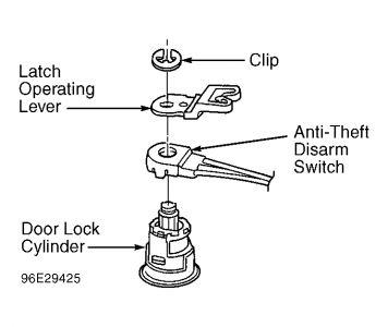 1997 Ford Thunderbird Theft System Car Alarm Electrical