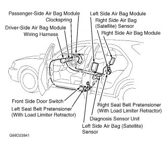 Wire Diagram Clarion Radio Nissan Ford Seat Belt Airbag 2005
