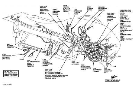 diagram of fuse box brakes problem 1999 ford taurus 6 cyl. Black Bedroom Furniture Sets. Home Design Ideas