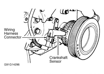 1995 Ford F 150 Crankshaft Position Sensor Location on cable harness drawing