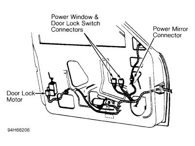 cavalier door lock diagram