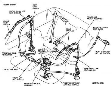 1995 Ford Escort Seatbelt Mechanism The Electronic Evenflo Car Seat Belt Replacement Wiring Diagrams Automotive
