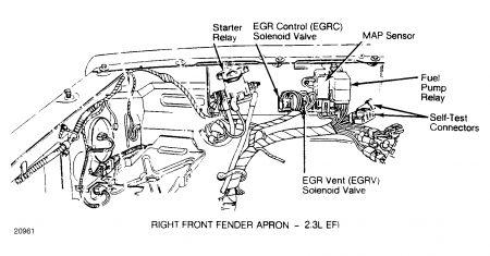1986 Ford Ranger Fuel Pump Engine Performance Problem 1986 Ford