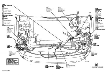 99 ford taurus engine diagram auto parts diagrams