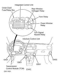 1996 honda civic horn relay electrical problem 1996 honda civic 4 horn relay civic behind left side of dash on bracket see fig 10
