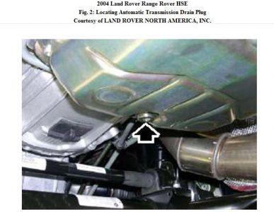 2004 Range Rover Replacing Transmission Fluid: Is There a Specifc