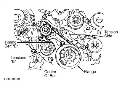 2004 kia optima timing belt tensioner  engine mechanical