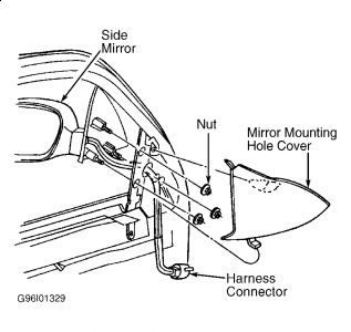 2000 ford mustang passenger side mirror how do i remove an. Black Bedroom Furniture Sets. Home Design Ideas