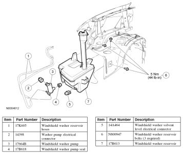 Ford Explorer 2006 Ford Explorer Rear Windshield Washer Reservior on 99 mercury sable fuse box diagram