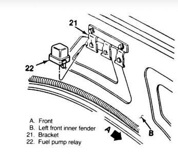 1996 Camaro Fuel Pump Relay Location