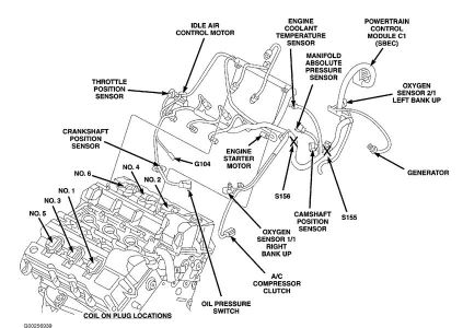 camshaft sensor?: i need help finding the camshaft sensor location... 2006 dodge stratus engine diagram 2000 dodge stratus fuse box diagram 2carpros